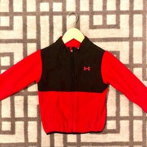 Under Armour Red & Black Fleece Jacket Size 2T❤️